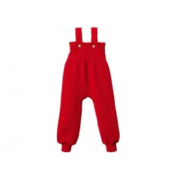 Trägerhose aus Wolle in rot