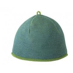 Melange-Mütze aus Schurwolle in grün